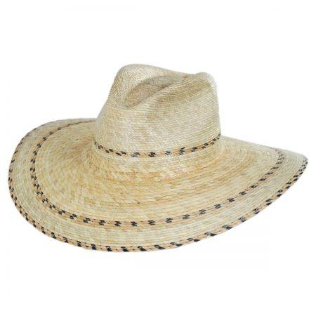 Brixton Hats Puebla Palm Leaf Straw Wide Brim Fedora Hat