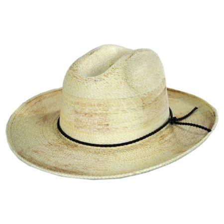 Vasquez Palm Leaf Straw Cattleman Western Hat alternate view 1