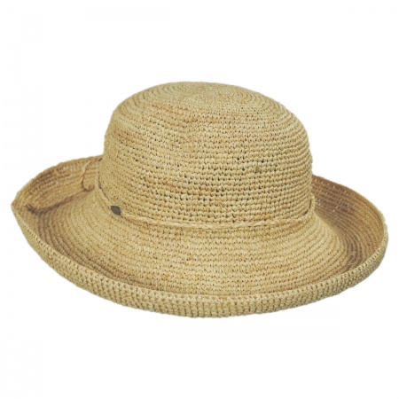 Scala Twist Raffia Straw Boater Hat