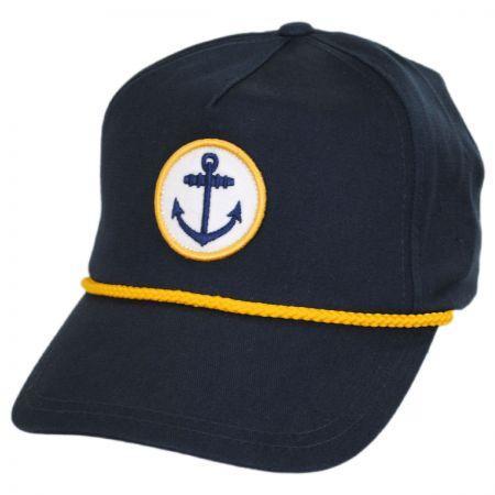 Anchor Snapback Baseball Cap