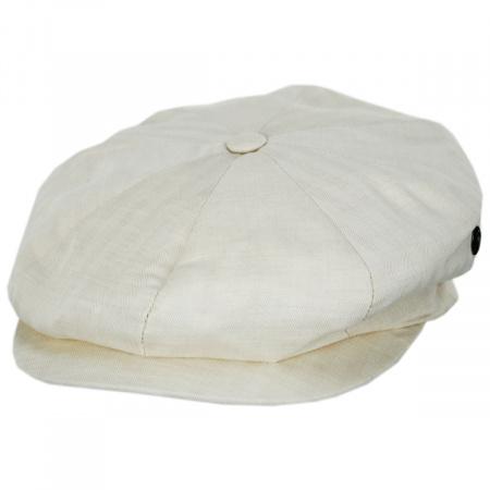 Summer Herringbone Linen and Cotton Newsboy Cap alternate view 1