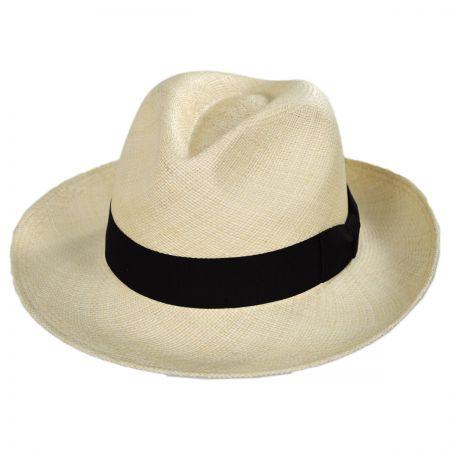Bigalli Classic Panama Straw Fedora Hat