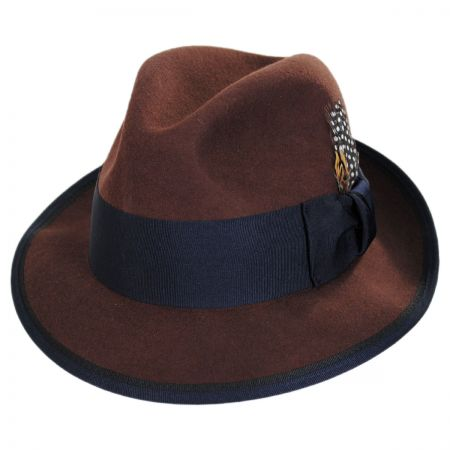 Stacy Adams Two Tone Wool Felt Fedora Hat