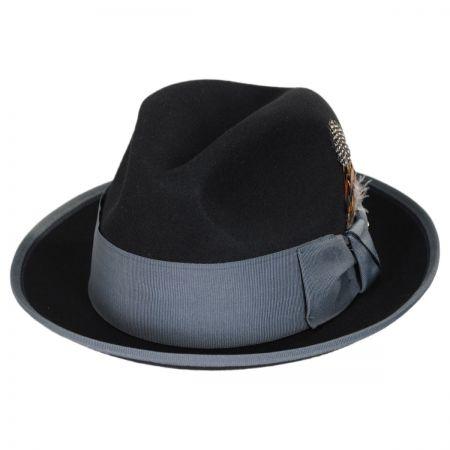 Two Tone Wool Felt Fedora Hat alternate view 16