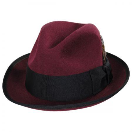 Two Tone Wool Felt Fedora Hat alternate view 34