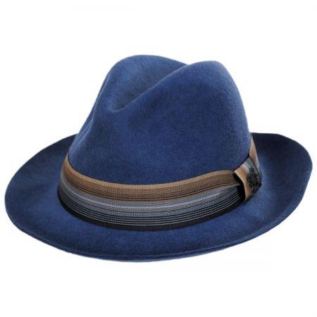 Stacy Adams Gradient Wool Felt Fedora Hat