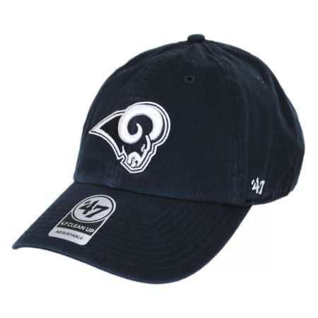 47 Brand Los Angeles Rams NFL Clean Up Strapback Baseball Cap Dad Hat