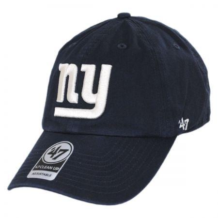 47 Brand New York Giants NFL Clean Up Legacy Strapback Baseball Cap Dad Hat