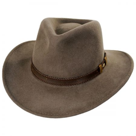 Scala Leather Band Wool Outback Hat