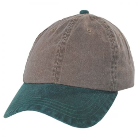 Pigment Dyed Strapback Baseball Cap Dad Hat alternate view 1