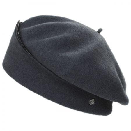 Leather Beret at Village Hat Shop 7091c186a33
