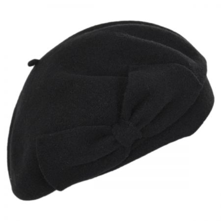 Laulhere Coco Bow Wool Beret