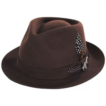 Carlos Santana Backstage Teardrop Wool Felt Fedora Hat