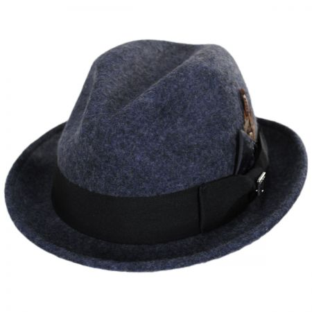 Stacy Adams Heathered Wool Felt Fedora Hat