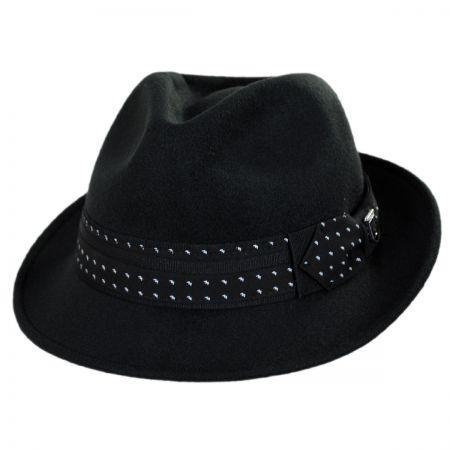 Stacy Adams Tie Band Ultrafelt Fedora Hat