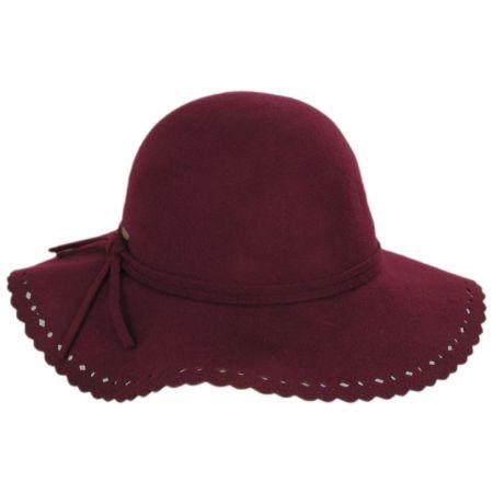 Scala Floppy Lacey Edge Wool Swinger Hat