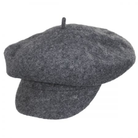 Scala Boiled Wool Newsboy Flat Cap