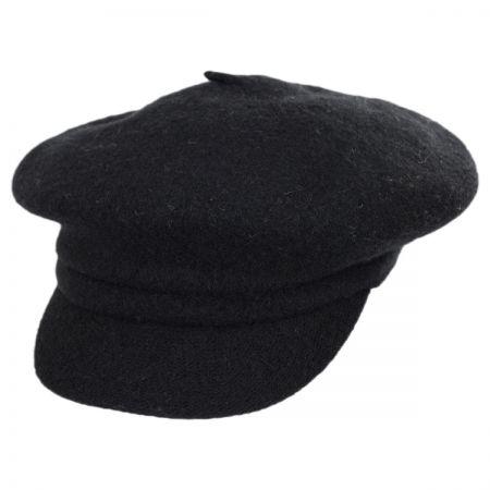 Boiled Wool Newsboy Flat Cap alternate view 1