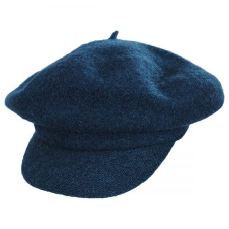 Boiled Wool Newsboy Flat Cap