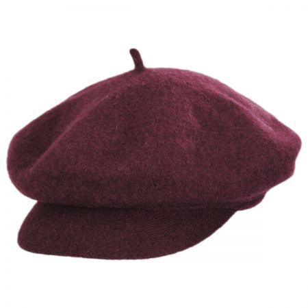 Scala Boiled Wool Newsboy Flat Cap
