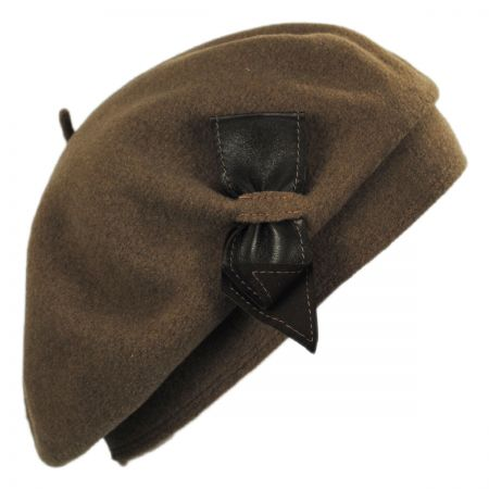 Colette Wool Beret with Storage Pouch