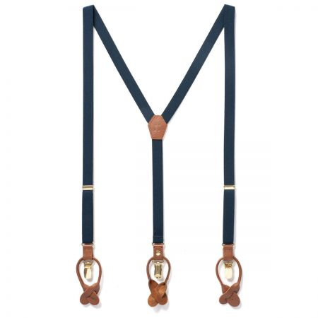 JJ Skinny Suspenders - Navy Blue alternate view 1