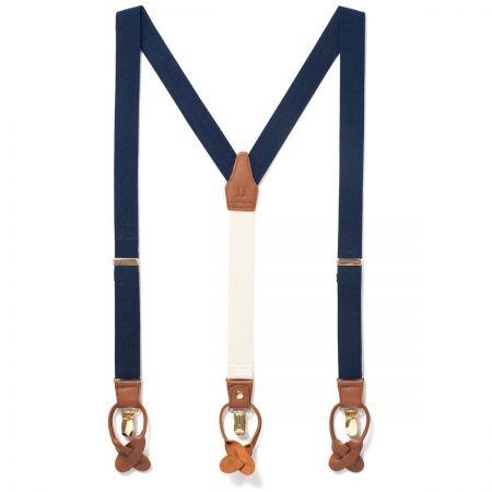 JJ Classic Suspenders - Navy Blue alternate view 1