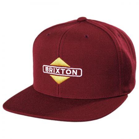Brixton Hats Brink Mid Profile Snapback Baseball Cap