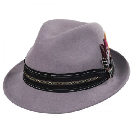Stacy Adams Layered Band Wool Fedora Hat d11fa78553c