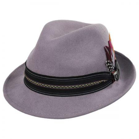 Layered Band Wool Fedora Hat alternate view 9
