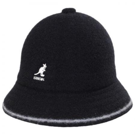 Kangol Striped Casual Wool Bucket Hat