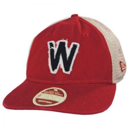 detailed look 113f6 d273b New Era Washington Senators Strapback Trucker Baseball Cap