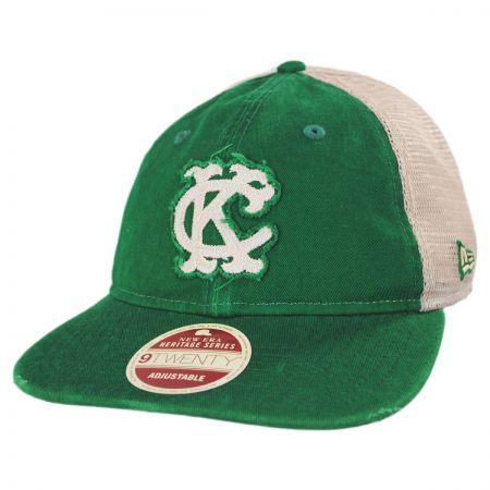 New Era Kansas City Athletics 1965-1967 Strapback Trucker Baseball Cap 667cee6179f