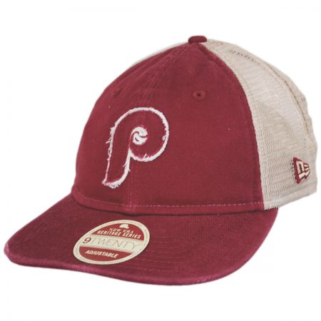 77ea890b697 New Era Philadelphia Phillies 1970 Strapback Trucker Baseball Cap ...