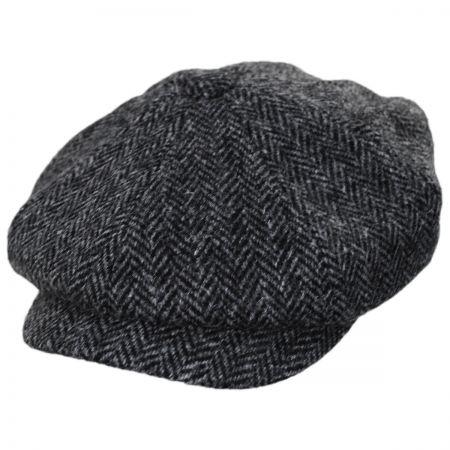 Failsworth Carloway Harris Tweed Gray Wool Newsboy Cap