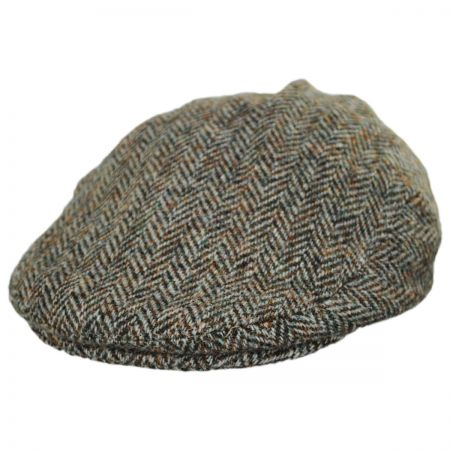 Failsworth Stornoway Harris Tweed Wool Herringbone Flat Cap