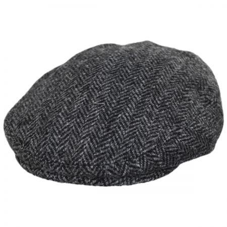 Stornoway Harris Tweed Wool Herringbone Flat Cap