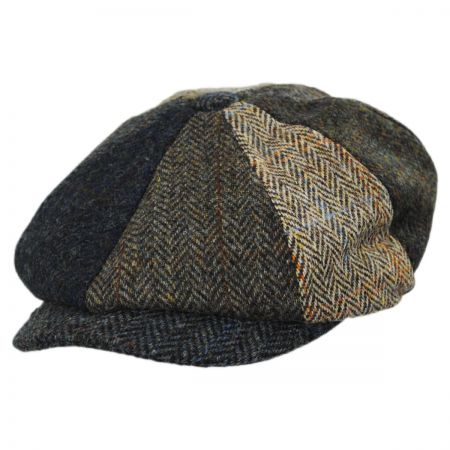 Failsworth Lewis Harris Tweed Multi Wool Newsboy Cap