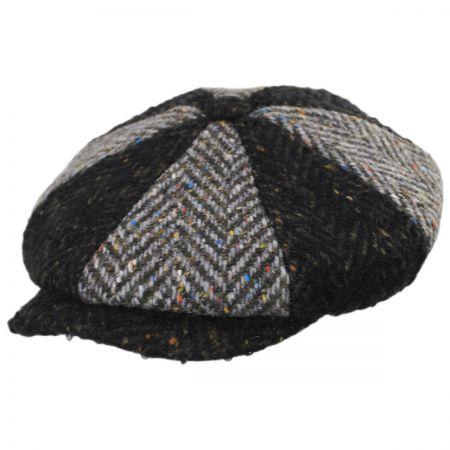 Failsworth Magee 1866 Donegal Tweed Green Wool Newsboy Cap