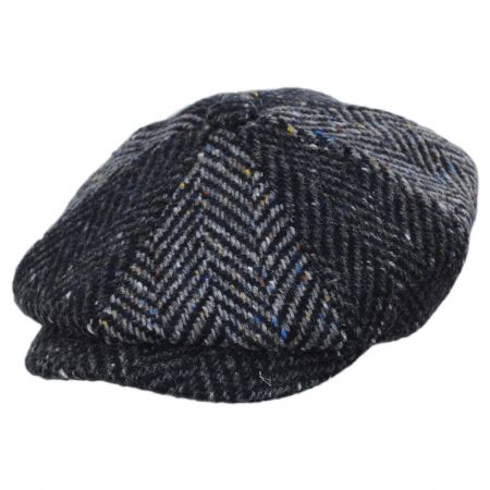 Failsworth Magee 1866 Donegal Tweed Blue Wool Newsboy Cap