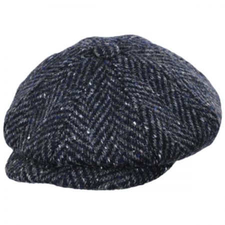 Failsworth Magee 1866 Donegal Tweed Mayo Charcoal Wool Newsboy Cap