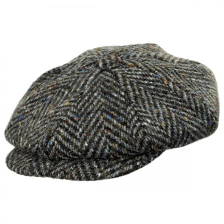 Magee 1866 Donegal Tweed Mayo Olive Wool Newsboy Cap alternate view 5