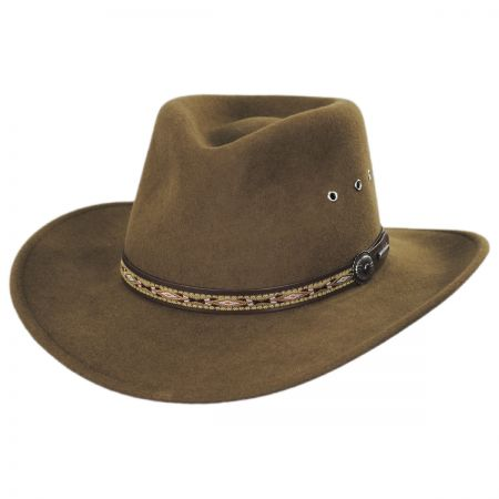 Kimmel Crushable Wool Felt Outback Hat