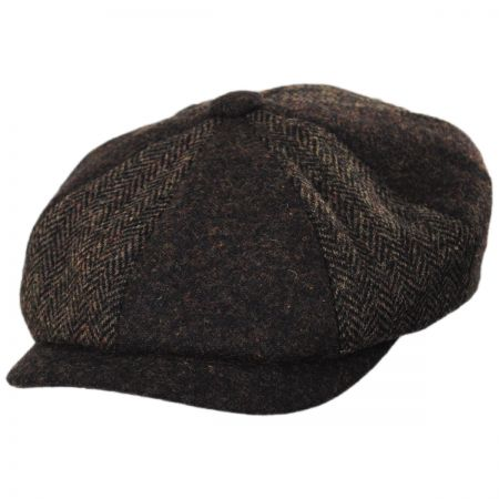 Patchwork Wool Blend Newsboy Cap alternate view 1