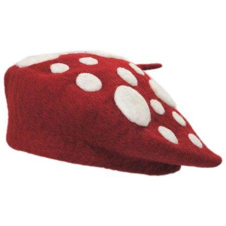 Elope Heartfelted Mushroom Wool Beret