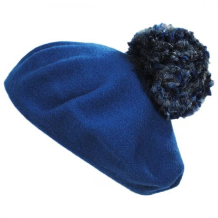 Meridian Pom Wool Beret alternate view 1