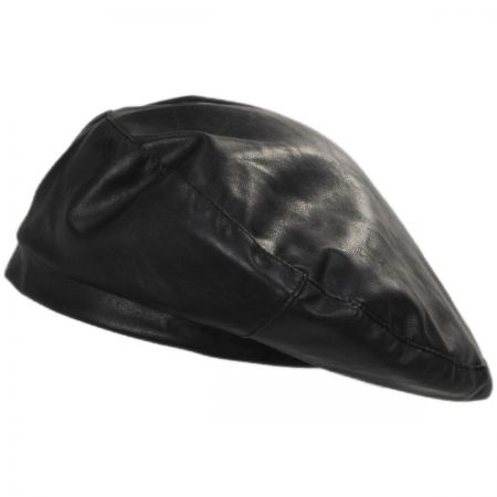 Leather Beret at Village Hat Shop 1ce9ed1536c