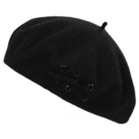 02576085ed290 Black Beret at Village Hat Shop