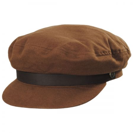 Brown Leather Cap at Village Hat Shop c696961d25f