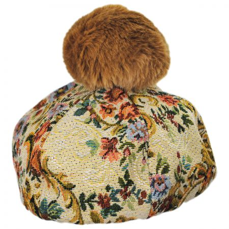 San Diego Hat Company Brocade Cotton Blend Beret